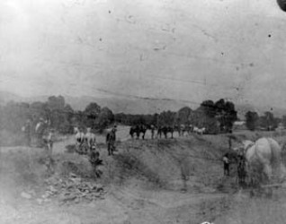 Ditch construction c.1900
