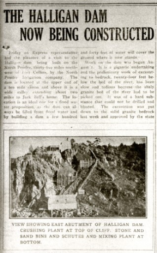 Halligan Dam article